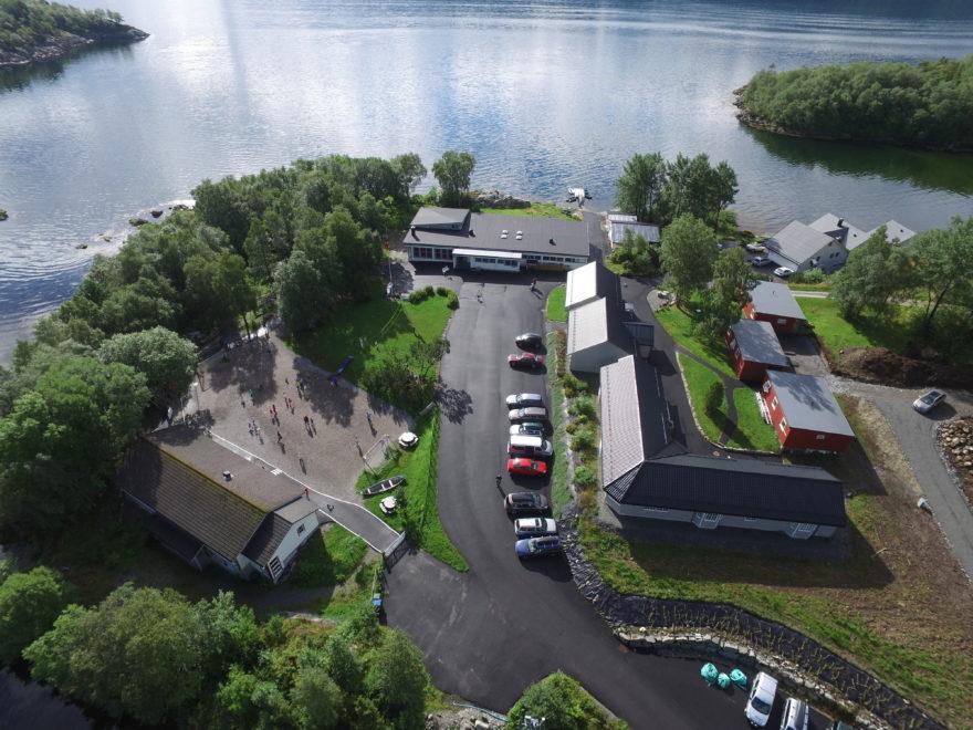 Utsikt over Fjordby ungdomssenter